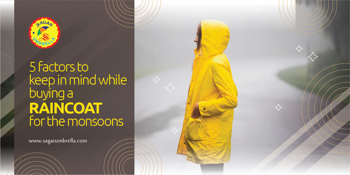 5 Factors to Keep in Mind While Buying a Raincoat for The Monsoons